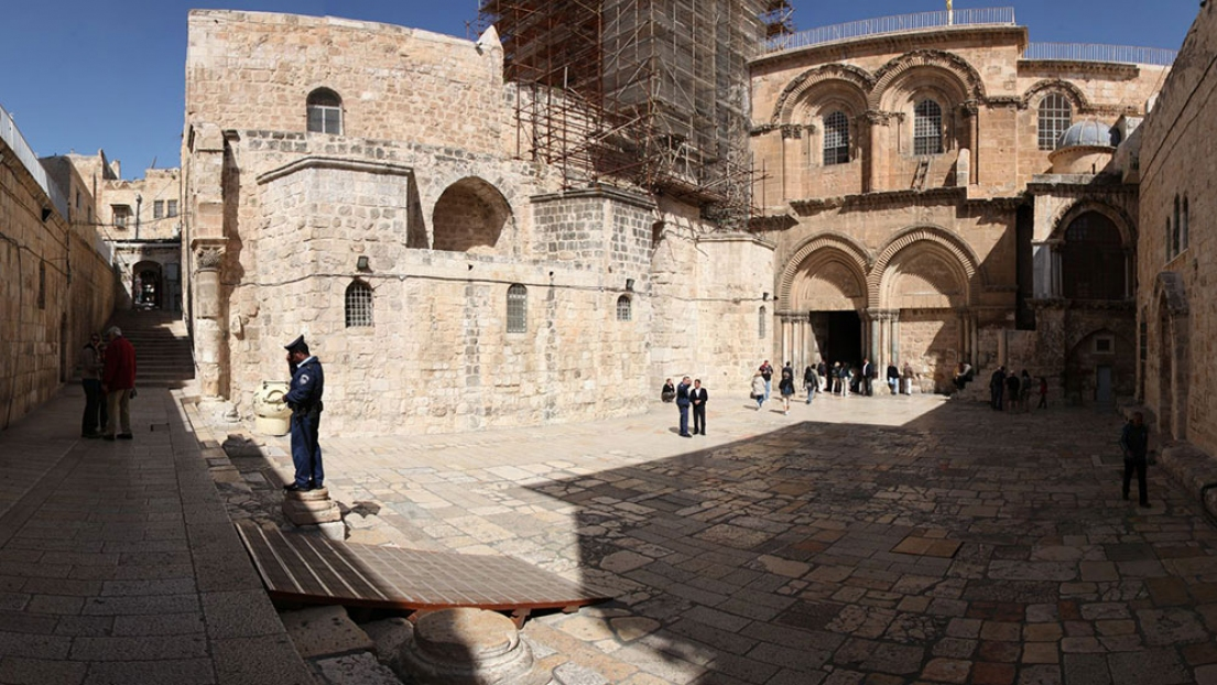 "Holy See announced intention of making ""a substantial donation"" towards restoration work on the basilica of the Holy Sepulchre."