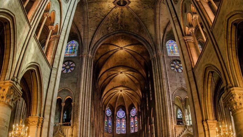 Le démontage de l'ancien échafaudage est achevé — Notre-Dame