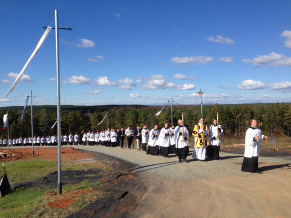 USA: The great day! 2000 faithful attend the opening of the new